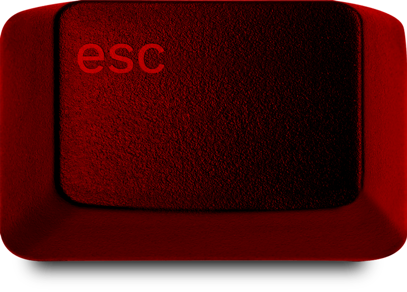 Large red ESC button